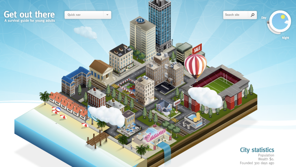 virtual city to answer real life questions